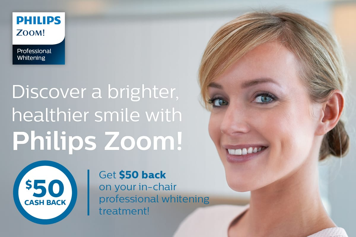 Zoom Philips Teeth Whitening Cash Back